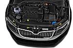 Car Stock 2014 Skoda Octavia 2.0 CRTDI 135kw DSG6 RS 5 Door Wagon 2WD Engine high angle detail view