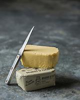 France, Normandie, Calvados (14), Isigny-sur-Mer, AOP Beurre d'Isigny, // France, Normandy,  Calvados, Isigny sur Mer, Beurre d'Isigny, Cow's milk butter, PDO