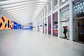 New York, New York<br /> March 20, 2020<br /> 3:21 PM<br /> <br /> Manhattan under the coronavirus pandemic. <br /> <br /> Friday rush-hour, the Oculus a terminal station on the PATH system, within the World Trade Center complex in the Financial District of Manhattan.<br /> <br /> Normally this space would be filled of people.
