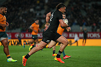 NZ's David Havili runs for the tryline during the Bledisloe Cup rugby match between the New Zealand All Blacks and Australia Wallabies at Eden Park in Auckland, New Zealand on Saturday, 14 August 2021. Photo: Simon Watts / lintottphoto.co.nz / bwmedia.co.nz