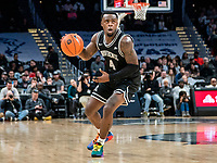 WASHINGTON, DC - FEBRUARY 19: Maliek White #4 of Providence on the attack during a game between Providence and Georgetown at Capital One Arena on February 19, 2020 in Washington, DC.