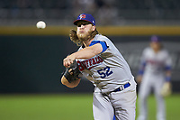 Buffalo Bisons relief pitcher Kirby Snead (52) delivers a pitch to the plate against the Caballeros de Charlotte at BB&T BallPark on July 23, 2019 in Charlotte, North Carolina. The Bisons defeated the Caballeros 8-1. (Brian Westerholt/Four Seam Images)