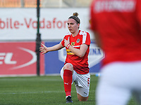 20190227 - LARNACA , CYPRUS : Austrian Katharina Schiechtl pictured during a women's soccer game between the Super Falcons of Nigeria and Austria , on Wednesday 27 February 2019 at the AEK Arena in Larnaca , Cyprus . This is the first game in group C for both teams during the Cyprus Womens Cup 2019 , a prestigious women soccer tournament as a preparation on the Uefa Women's Euro 2021 qualification duels. PHOTO SPORTPIX.BE | DAVID CATRY