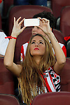 Athletic de Bilbao´s supporter takes a picture during 2014-15 Copa del Rey final match between Barcelona and Athletic de Bilbao at Camp Nou stadium in Barcelona, Spain. May 30, 2015. (ALTERPHOTOS/Victor Blanco)