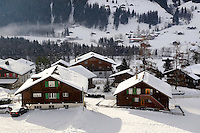 Swiss chalets in Grindelwald - Swiss Alps - Switzerland