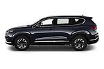 Car Driver side profile view of a 2021 Hyundai Santa-FE Shine 5 Door SUV Side View