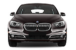 Car photography straight front view of a 2016 BMW 5 Series 535i Gran Turismo Luxury Line 5 Door Hatchback Front View