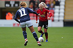 Alex Greenwood of Manchester United Women and Evie Clarke of Millwall Lionesses