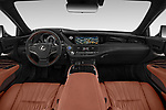 Stock photo of straight dashboard view of a 2018 Lexus LS President 4wd 4 Door Sedan