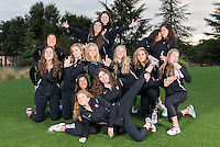 Stanford, Ca - October 4, 2016: The 2016-2017 Stanford Synchronized Swimming Team.