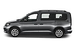 Car Driver side profile view of a 2021 Volkswagen Caddy Maxi-Life 5 Door Mini Mpv Side View
