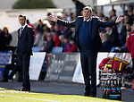 Ross County v St Johnstone…..30.04.16  Global Energy Stadium, Dingwall<br />Tommy Wright appeals for a free kick<br />Picture by Graeme Hart.<br />Copyright Perthshire Picture Agency<br />Tel: 01738 623350  Mobile: 07990 594431