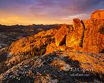 Sunset, Burst Rock Formation, Emigrant Wilderness, Stanislaus National Forest, Sierra Nevada, California