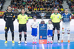 Barcelona Lassa Francisco Sedano and R. Renov. Zaragoza Carlos Retamar during Futsal Spanish Cup 2018 at Wizink Center in Madrid , Spain. March 16, 2018. (ALTERPHOTOS/Borja B.Hojas)