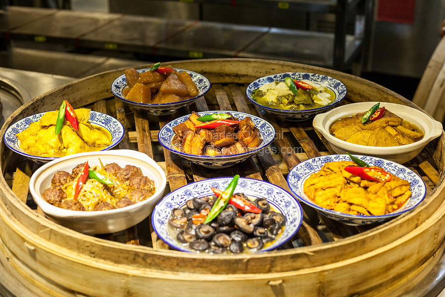 Nanjing, Jiangsu, China.  Serving Tray Ready to be Carried to a Table for Lunch.
