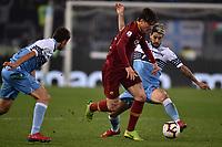Nicolo Zaniolo of AS Roma , Luis Alberto of Lazio <br /> Roma 2-3-2019 Stadio Olimpico Football Serie A 2018/2019 SS Lazio - AS Roma <br /> Foto Andrea Staccioli / Insidefoto