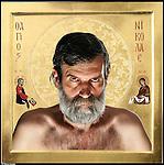 Aurel, nato in Romania, vive in Italia dal 2002.<br /> Dalla serie di ritratti ispirati a I Versi Satanici di Salman Rushdie, in rappresentanza delle principali culture spirituali del pianeta.