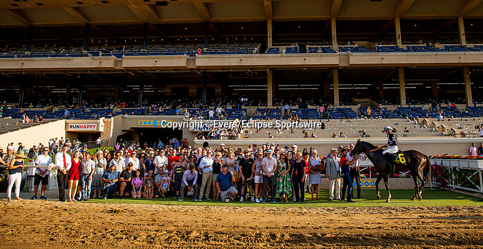 JULY 18, 2021: Tizamagician and Flavien Prat win the Cougar II at Del Mar Fairgrounds in Del Mar, California on July 18, 2021. Evers/Eclipse Sportswire/CSM