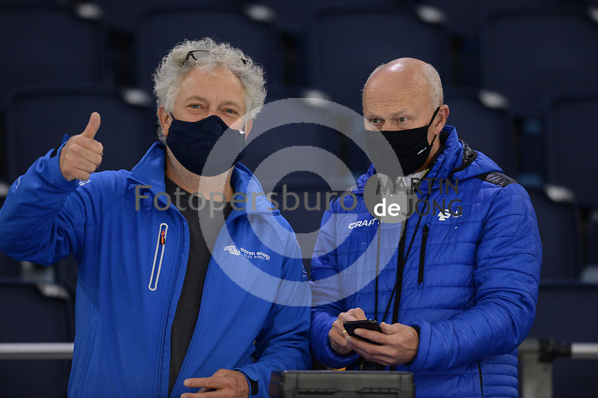 SCHAATSEN: HEERENVEEN: 10-10-2020, KNSB Trainingswedstrijd, Jan Ykema, Henk Hospes, ©foto Martin de Jong