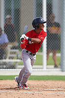 Boston Red Sox Yomar Valentin during an instructional league game against the Minnesota Twins on September 26, 2015 at CenturyLink Sports Complex in Fort Myers, Florida.  (Mike Janes/Four Seam Images)