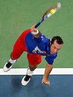 Tenis, Davis Cup 2010.Serbia Vs. Czech Republic, semifinals.Viktor Troicki Vs. Radek Stepanek.Radek Stepanek, serve.Beograd, 17.09.2010..foto: Srdjan Stevanovic/Starsportphoto ©