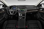 Stock photo of straight dashboard view of 2018 Nissan Maxima Platinum 4 Door Sedan Dashboard