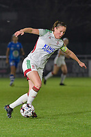 OHL's Lenie Onzia (8) pictured during a female soccer game between  AA Gent Ladies and Oud Heverlee Leuven on the 9th matchday of the 2020 - 2021 season of Belgian Scooore Womens Super League , friday 11 th of December 2020  in Oostakker , Belgium . PHOTO SPORTPIX.BE | SPP | DIRK VUYLSTEKE