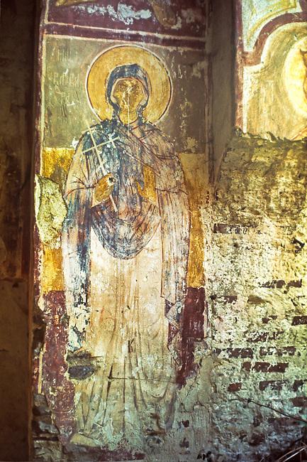 Interior Fresco, Half-buried Greek church, Sinop