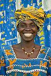 Portrait of a Bambara woman, Mali.