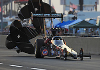 Jul, 9, 2011; Joliet, IL, USA: NHRA top fuel dragster driver Keith Murt during qualifying for the Route 66 Nationals at Route 66 Raceway. Mandatory Credit: Mark J. Rebilas-