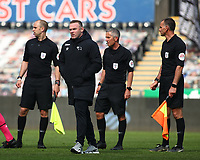 1st May 2021; Liberty Stadium, Swansea, Glamorgan, Wales; English Football League Championship Football, Swansea City versus Derby County; Wayne Rooney, Manager of Derby County after the final whistle