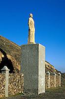 Spanien, Kanarische Inseln, Fuerteventura, Tindaya, Denkmal von Miguel de Unamuno
