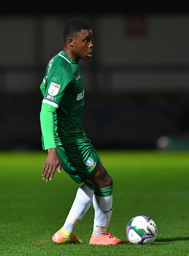 Sheffield Wednesday's Fisayo Dele-Bashiru<br /> <br /> Photographer Dave Howarth/CameraSport<br /> <br /> Carabao Cup Second Round Northern Section - Rochdale v Sheffield Wednesday - Tuesday 15th September 2020 - Spotland Stadium - Rochdale<br />  <br /> World Copyright © 2020 CameraSport. All rights reserved. 43 Linden Ave. Countesthorpe. Leicester. England. LE8 5PG - Tel: +44 (0) 116 277 4147 - admin@camerasport.com - www.camerasport.com