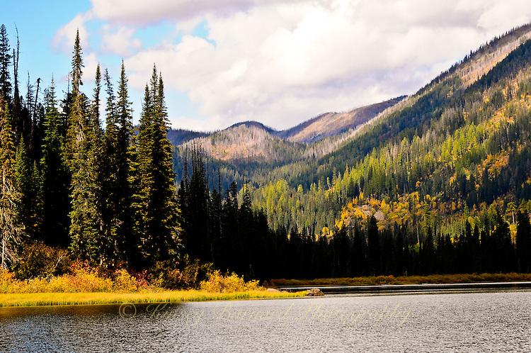 """HANDKERCHIEF LAKE""<br /> <br /> Autumn afternoon at Handkerchief Lake Montana"