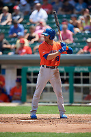 Syracuse Mets Danny Espinosa (18) bats during an International League game against the Indianapolis Indians on July 17, 2019 at Victory Field in Indianapolis, Indiana.  Syracuse defeated Indianapolis 15-5  (Mike Janes/Four Seam Images)