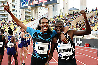 9th July 2021, Monaco, France; Diamond League Athletics, Herculis meeting, Monaco; Timothy Cheruiyot Kenya and Mohamed Katir Esp