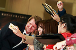 Director Tom Hooper poses for a photograph with fan during the Japan premiere of The Danish Girl on March 9, 2016, Tokyo, Japan. Eddie Redmayne with his wife Hannah Bagshawe came to Japan to greet fans during the red carpet for the movie The Danish Girl. The film was nominated in four categories at the Academy Awards with Best Supporting Actress going to Alicia Vikander. Redmayne who won Best Actor at the Academy Awards in 2015 lost out this year in the Best Actor category to Leonardo DiCaprio. The film hits Japanese theaters on March 18. (Photo by Rodrigo Reyes Marin/NipponNews.net)