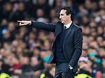 Manager Unai Emery Etxegoien of Paris Saint Germain reacts during the UEFA Champions League 2017-18 Round of 16 (1st leg) match between Real Madrid vs Paris Saint Germain at Estadio Santiago Bernabeu on February 14 2018 in Madrid, Spain. Photo by Diego Souto / Power Sport Images