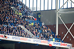 Away fans in the corner of the Club Deck today
