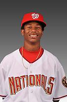 14 March 2008: ..Portrait of Aaron Jackson, Washington Nationals Minor League player at Spring Training Camp 2008..Mandatory Photo Credit: Ed Wolfstein Photo