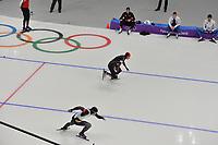 OLYMPIC GAMES: PYEONGCHANG: 19-02-2018, Gangneung Oval, Long Track, 500m Men, Joji Kato (JPN), Tingyu Gao (CHN), ©photo Martin de Jong