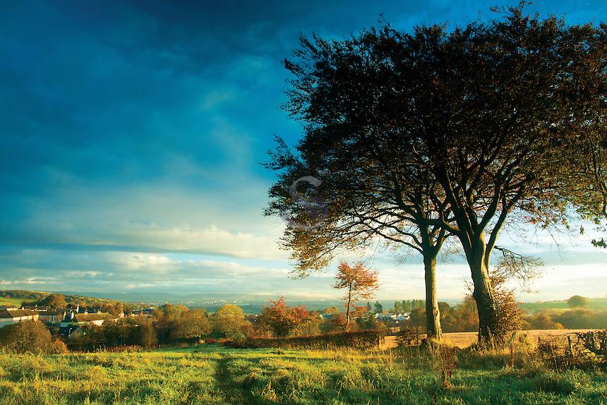 Looking towards Glasgow from Neilston, East Renfrewshire