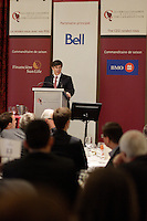 Montreal (QC) CANADA - March 26 2012 file Photo -  Terence F Bowles adress the Canadian Club of Montreal at Club Saint-james.