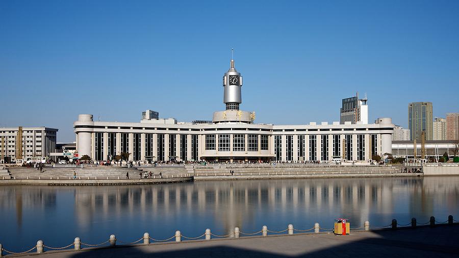 Tianjin's New East Railway Station.