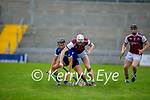 Causeway's Evan Murphy and St Brendans Cian Hussey have eyes on the sliotar as they tussle for possession, in the County Senior Hurling championship