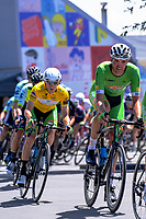 Nick Reddish (Oliver's Real Food Racing, left) wears the yellow jersey during stage three of the 2018 NZ Cycle Classic UCI Oceania Tour (Masterton to Martinborough) in Wairarapa, New Zealand on Friday, 19 January 2018. Photo: Dave Lintott / lintottphoto.co.nz