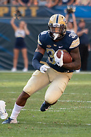 Pitt running back Qadree Ollison. The Pitt Panthers football team defeated the Albany Great Danes 33-7 on September 01, 2018 at Heinz Field, Pittsburgh, Pennsylvania.