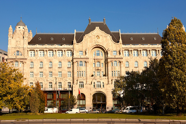 Four Seasons Hotel in The Art Nouveau Gresham Palace, Budapest, Hungary
