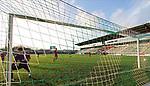 22.11.2020, Dietmar-Scholze-Stadion an der Lohmuehle, Luebeck, GER, 3. Liga, VfB Luebeck vs FC Bayern Muenchen II <br /> <br /> im Bild / picture shows <br /> Tor zum 2:0 . Torschütze/Torschuetze Pascal Steinwender (VfB Luebeck)  trifft zum 2:0 ins Tor von Torwart Ron-Thorben Hoffmann (FC Bayern Muenchen II) <br /> <br /> DFB REGULATIONS PROHIBIT ANY USE OF PHOTOGRAPHS AS IMAGE SEQUENCES AND/OR QUASI-VIDEO.<br /> <br /> Foto © nordphoto / Tauchnitz