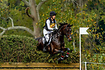 October 16, 2021: Rebecca Von Schweinitz (USA), aboard Limited Edition, competes during the Cross Country Test at the 3* level during the Maryland Five-Star at the Fair Hill Special Event Zone in Fair Hill, Maryland on October 16, 2021. Scott Serio/Eclipse Sportswire/CSM